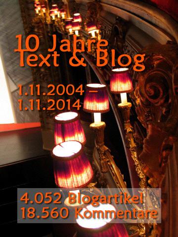 Zehn Jahre Text & Blog
