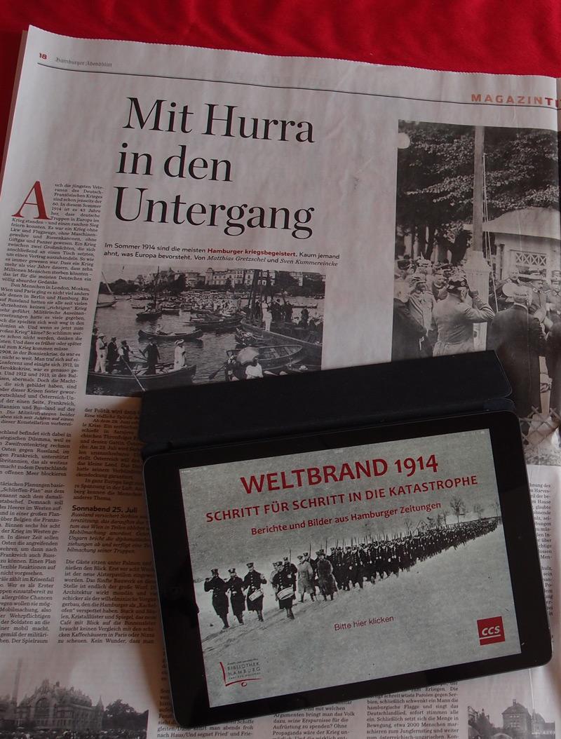 Abendblatt-Dossier zum Ersten Weltkrieg in Hamburg