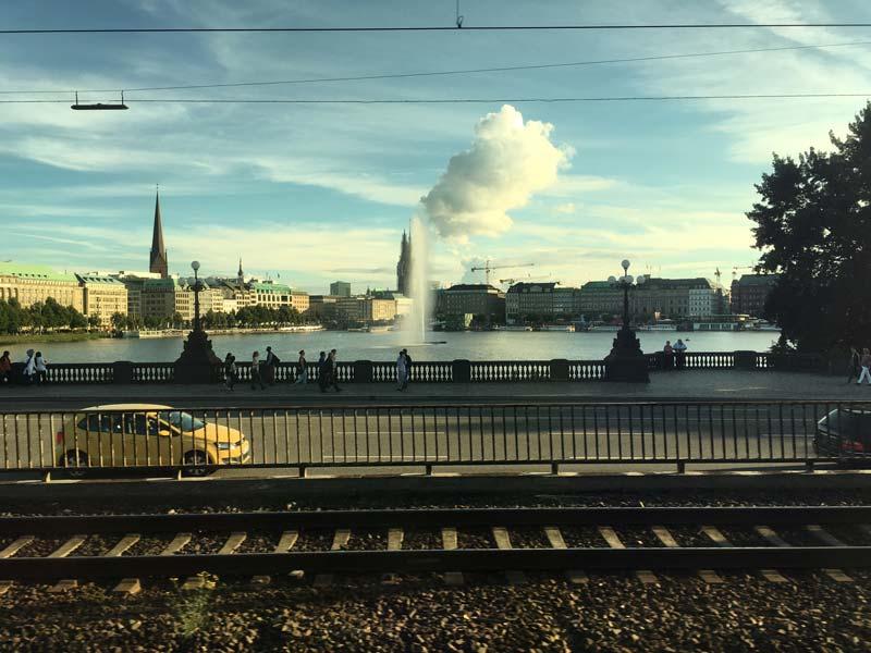 Blick auf die Binnenalster in Hamburg