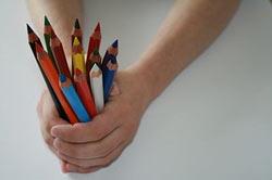 Andere Kinder haben auch schöne Stifte