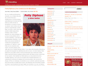 Prof. Neuschäfer über Pedro Almodóvars 'Patty Diphusa' im ciberaBlog