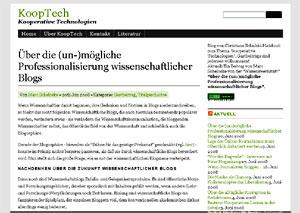 Marc Scheloske: Über die (un-)mögliche Professionalisierung wissenschaftlicher Blogs