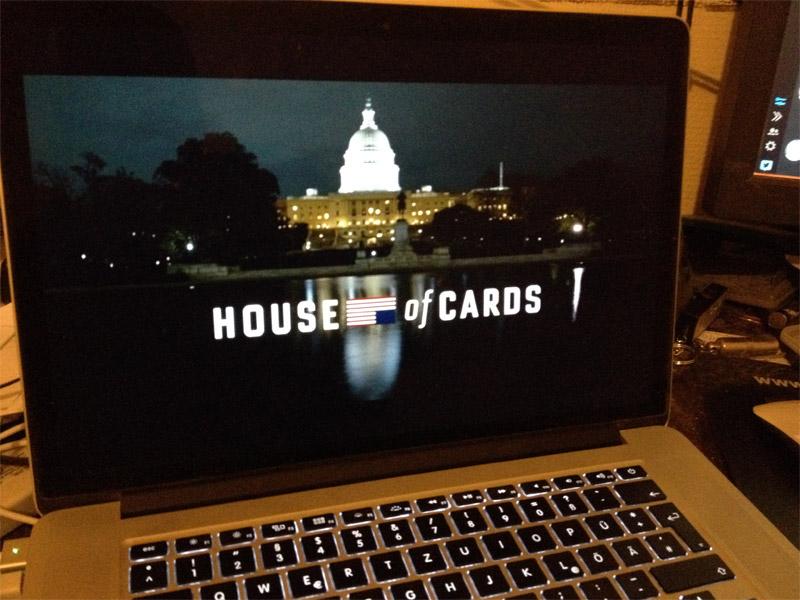 Netflix: House of Cards auf dem MacBook Pro