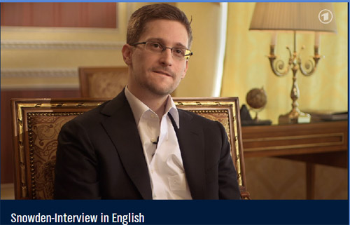 Edward Snowden im Interview des NDR