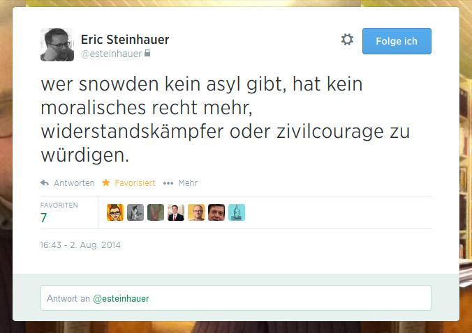 Tweet der Woche von @esteinhauer